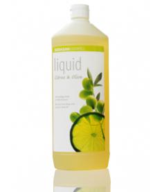Органическое мыло Citrus-Olive жидкое, бактерицидное с цитрусовым и оливковым маслами 1л, SODASAN
