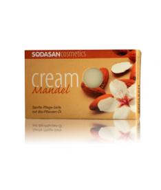 Органическое мыло-крем Almond для лица с маслами Ши и Миндаля 100г, SODASAN