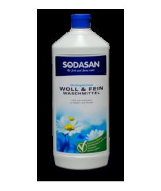 Органическое жидкое средство-концентрат Sodasan Woolen Wash для стирки шерсти, шелка и деликатных тканей, 1л