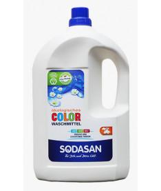Органическое жидкое средство Sodasan Color д/стирки цветных тканей от 30` со смягчителем воды, 4л