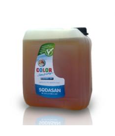 Органическое жидкое средство Sodasan Color-sensitiv д/стирки цветных тканей от 30` для чувствительной кожи и детского белья, 5 л