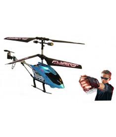 PaulG  FALCON (синий, 3-канальный, 20 см, с гироскоп Вертолет на ИК управлении с пультом-перчаткой -