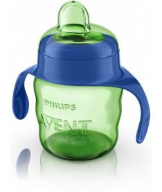 Philips Avent SCF551/00 Чашка с мягким носиком и ручками, 200 мл. 1шт, 6 мес+