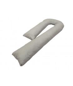 Подушка для беременных KIDIGO J - образная Горошек (с наволочкой)