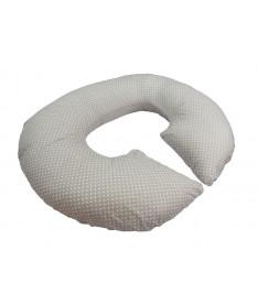 Подушка для беременных KIDIGO Рогалик - Горошек (с наволочкой)