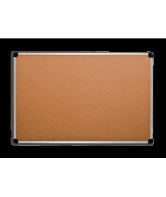 Пробковая доска ABC Office 90х120 см, алюминиевая рама S-line