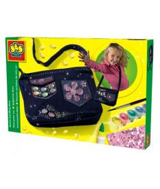 Ses Набор д/изготовления сумочки МОДНЫЙ ТРЕНД (сумочка,украшения,кисточка,краски,клей)