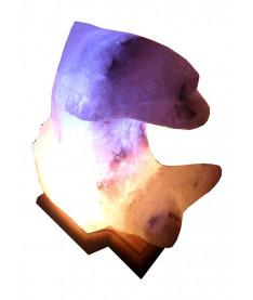 Соляная лампа Дельфин 3-4 кг.