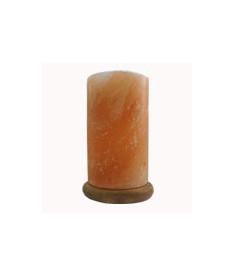 Соляная лампа на деревяной подставке. Модель SLCN-24