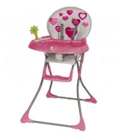 Стульчик для кормления Bertoni JOLLY (pink hearts)