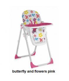 Стульчик для кормления Bertoni SIESTA (butterfly and flowers pink)
