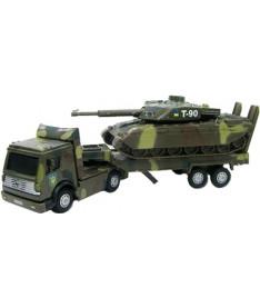 Технопарк ВОЕННАЯ ТЕХНИКА (тягач+танк,свет,звук) Набор игровой
