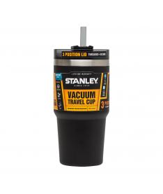 Термочашка с соломинкой Stanley Quencher Matte 0.6, черная, NEW