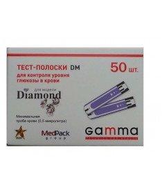 Тест-полоски GAMMA DM для глюкометра GAMMA DIAMOND (50шт)
