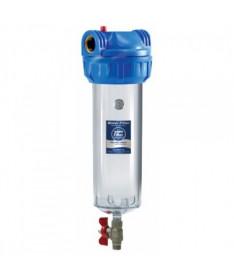 Трёхэлементные корпуса фильтров 10 со спускным клапаном Aquafilter FHPR12-3V_R