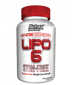 USA Nutrex White Label LIPO 6: LIPO 6 STIM FREE - белая банка 120 капс