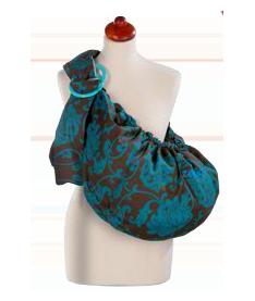 Womar Zaffiro 16 - коричнево-бирюзовый (цветки) - цвет 08 Слинг