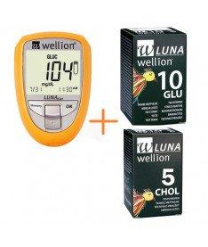 Акционный набор Глюкометр Wellion Luna Duo+тест-полоски 10 шт. (глюкоза)+тест-полоски 5шт. (холестерин) (Австрия)