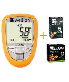 Акционный набор Глюкометр Wellion Luna Duo+тест-полоски 25 шт. (глюкоза)  (Австрия)