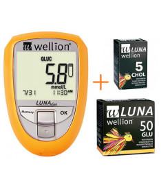 Акционный набор Глюкометр Wellion Luna Duo+тест-полоски 50 шт. (глюкоза)  (Австрия)