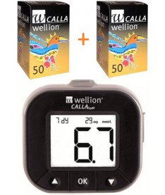 Акционный набор! Wellion Calla Light + тест-полоски 100 + ланцеты 10  (Австрия)