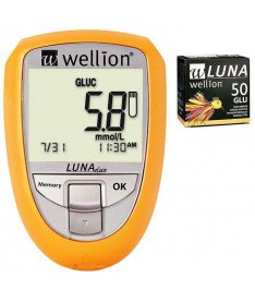 Акционный набор Wellion Luna Duo + тест-полоски №50 (глюкоза) (Австрия)