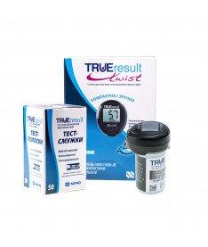 Глюкометр Nipro True Result Twist + 1 упаковка тест-полосок TRUEresult, 50 шт.
