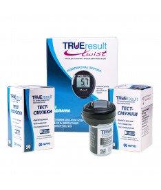 Глюкометр Nipro True Result Twist + 2 упаковки тест-полосок TRUEresult, 50 шт.