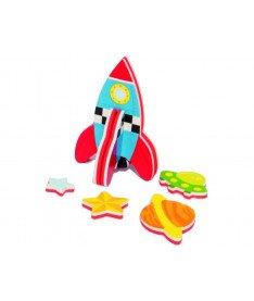 Игровой набор 3D модель для ванной Ракета Meadow Kids (MK 232)