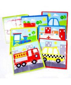 Игровой набор пазлов для ванной Транспорт Meadow Kids (MK 315)