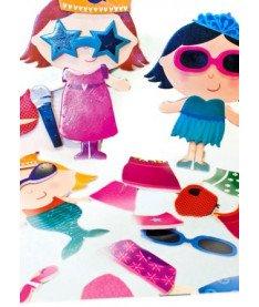 Игровой набор стикеров для ванной Наряды фэнтези Meadow Kids (MK 031)