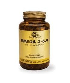 Капсулы Solgar Омега-3-6-9 ЕЖК 1300мг N60
