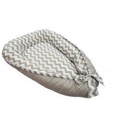 Кокон для новорожденных KIDIGO (Зигзаги-горошек)