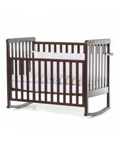 Кроватка детская Верес Соня ЛД12 без колес на ножках, съемная качалка, орех