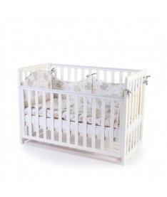Кроватка детская Верес Соня ЛД13 без колес на ножках, съемные спицы, белый