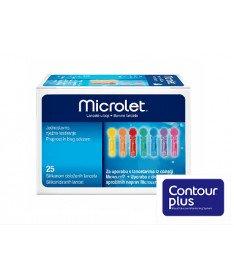 Ланцеты с силиконовым покрытием Microlet (Contour Plus) №25