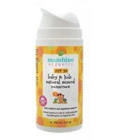 Mambino Organics (Мамбино) Детский натуральный минеральный солнцезащитный крем SPF 30 100 мл