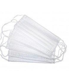 Маска медицинская тканевая трехслойная белая (100 штук)