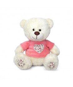 Медвежонок Сэмми в кофточке с декоративным сердечком музыкальный 18 см Lava (LA8733J)