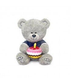 Мягкая игрушка Lava Медвежонок Ники с тортом музыкальный 21.5 см (LA8786K)