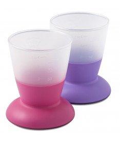 Набор из 2 чашек детский BabyBjorn Baby Cup 2-pack Pink/Purple
