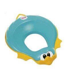 OK Baby Накладка на унитаз Ducka анатомический формы из мягкой резины голубой