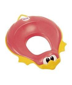 OK Baby Накладка на унитаз Ducka анатомический формы из мягкой резины розовый