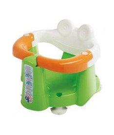 OK Bаby Сидение детское Crab для купания с присосками салатовый/оранжевый/белый