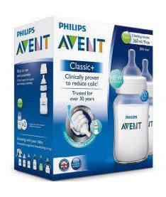 Philips Avent SCF563/27 Бутылочка для кормления classic +, 260 мл, 2 шт
