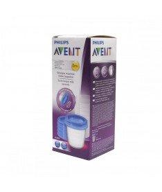 Philips Avent SCF619/05 Контейнеры для хранения грудного молока, 5 шт x 180 мл, 5 крышек