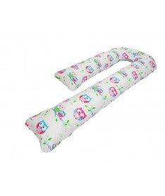 Подушка для беременных KIDIGO J - образная Сова (с наволочкой)