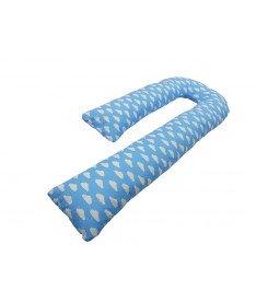 Подушка для беременных KIDIGO J - образная Тучки (с наволочкой)