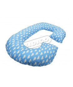 Подушка для беременных KIDIGO Рогалик - Облака (с наволочкой)