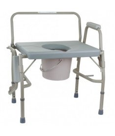 Стул-туалет с откидным подлокотником усиленный OSD-BL740101 (высота: 50-60)